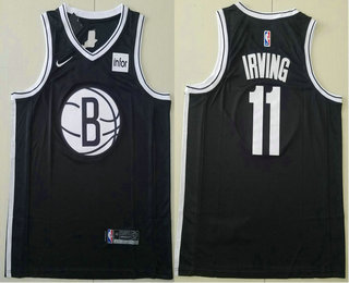 Men's Brooklyn Nets #11 Kyrie Irving Black 2019 NEW Nike Swingman Stitched NBA Jersey With The Sponsor Logo