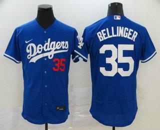 Men's Los Angeles Dodgers #35 Cody Bellinger Blue Stitched MLB Flex Base Nike Jersey