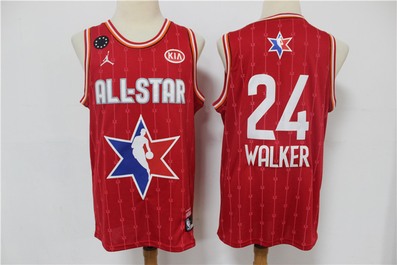 Men's Boston Celtics #24 Kemba Walker Red Jordan Brand 2020 All-Star Game Swingman Stitched NBA Jersey