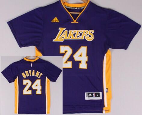 Size XXXXL Los Angeles Lakers #24 Kobe Bryant Revolution 30 Swingman 2014 New Purple Short-Sleeved Jersey