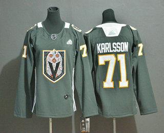 Women's Vegas Golden Knights #71 William Karlsson Gray Dia De Los Muertos Adidas Jersey