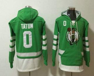 Men's Boston Celtics #0 Jayson Tatum NEW Green Pocket Stitched NBA Pullover Hoodie