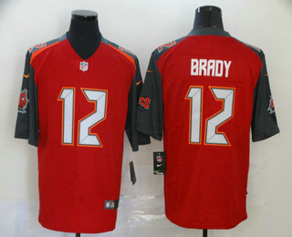 Men's Tampa Bay Buccaneers #12 Tom Brady Red 2020 Vapor Untouchable Stitched NFL Nike Limited Jersey