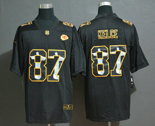 Men's Kansas City Chiefs #87 Travis Kelce Jesus Faith Black Vapor Untouchable Stitched NFL Nike Limited Jersey