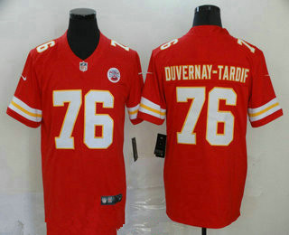 Men's Kansas City Chiefs #76 Laurent Duvernay-Tardif Red 2017 Vapor Untouchable Stitched NFL Nike Limited Jersey