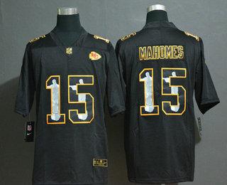 Men's Kansas City Chiefs #15 Patrick Mahomes Jesus Faith Black Vapor Untouchable Stitched NFL Nike Limited Jersey