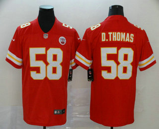 Men's Kansas City Chiefs #58 Derrick Thomas Red 2017 Vapor Untouchable Stitched NFL Nike Limited Jersey