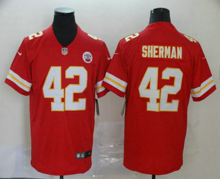 Men's Kansas City Chiefs #42 Anthony Sherman Red 2017 Vapor Untouchable Stitched NFL Nike Limited Jersey