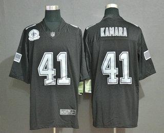 Men's New Orleans Saints #41 Alvin Kamara Black Olive 2019 Salute To Service Stitched NFL Nike Limited Jersey