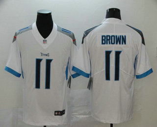 Men's Tennessee Titans #11 A.J. Brown Nike White New 2018 Vapor Untouchable Limited Jersey