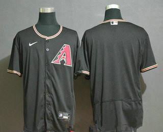 Men's Arizona Diamondback Blank Black Stitched Nike MLB Flex Base Jersey