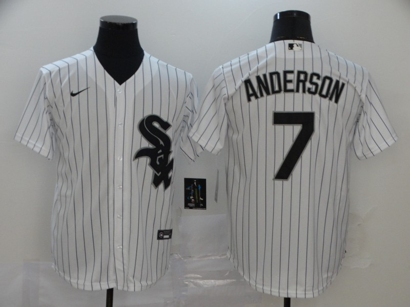 Men's Chicago White Sox #7 Tim Anderson White Stitched MLB Cool Base Nike Jersey