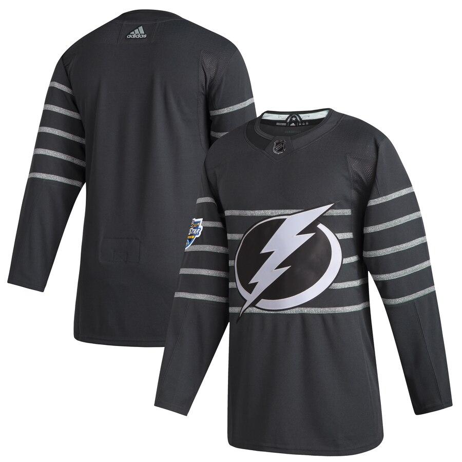 Men's Tampa Bay Lightning Blank Gray 2020 NHL All-Star Game Adidas Jersey