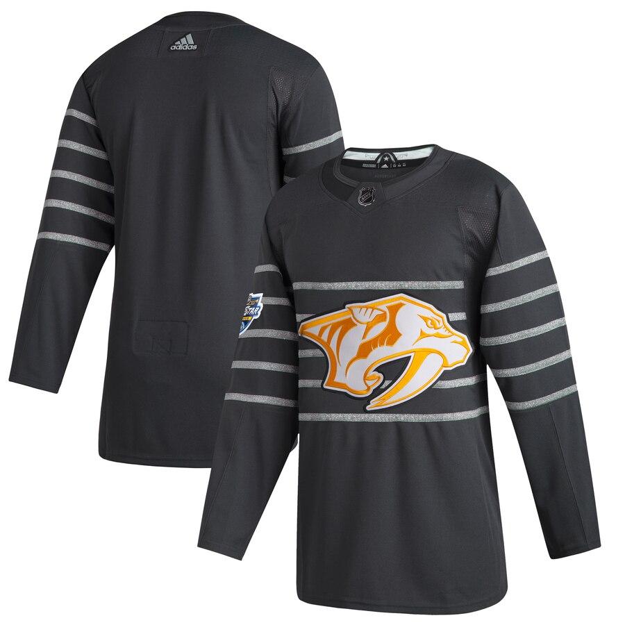 Men's Nashville Predators Blank Gray 2020 NHL All-Star Game Adidas Jersey