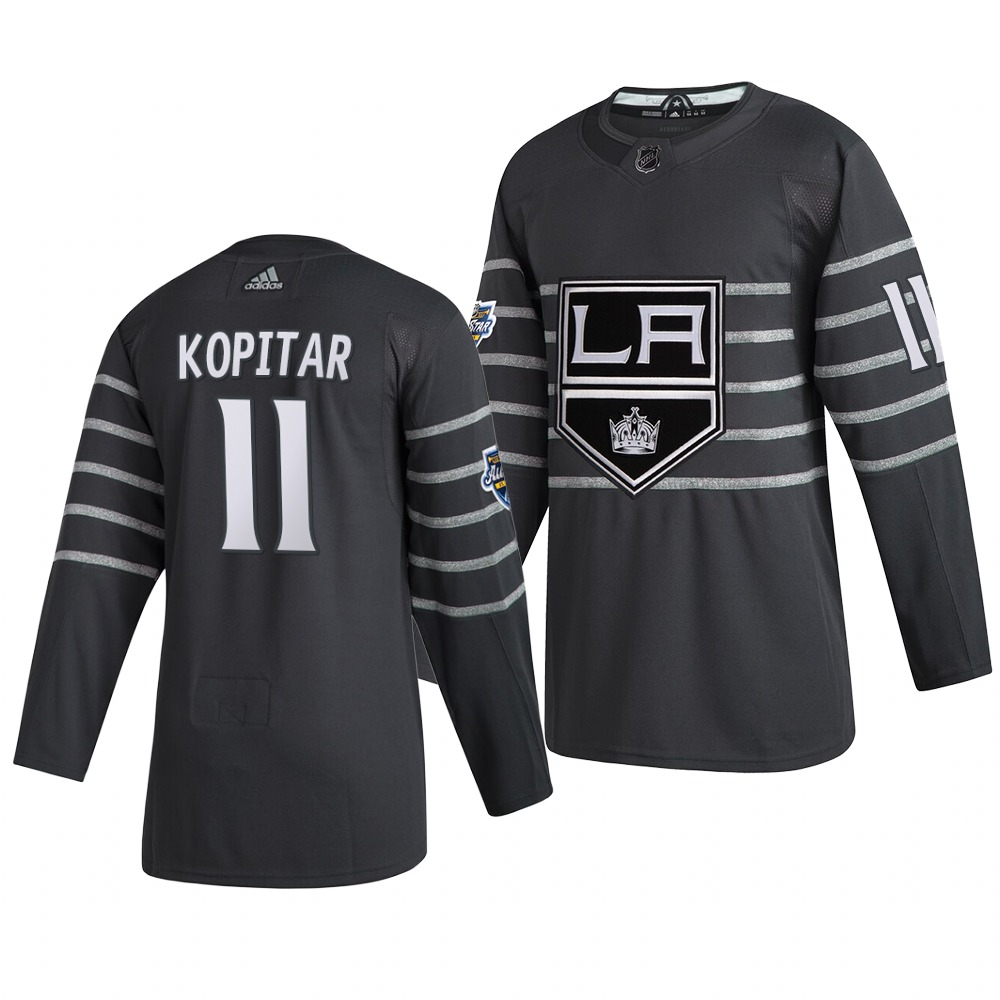 Men's Los Angeles Kings #11 Anze Kopitar Gray 2020 NHL All-Star Game Adidas Jersey