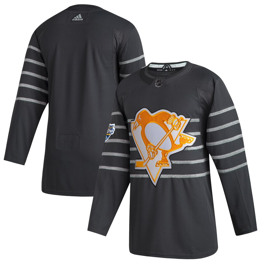 Men's Pittsburgh Penguins Blank Gray 2020 NHL All-Star Game Adidas Jersey