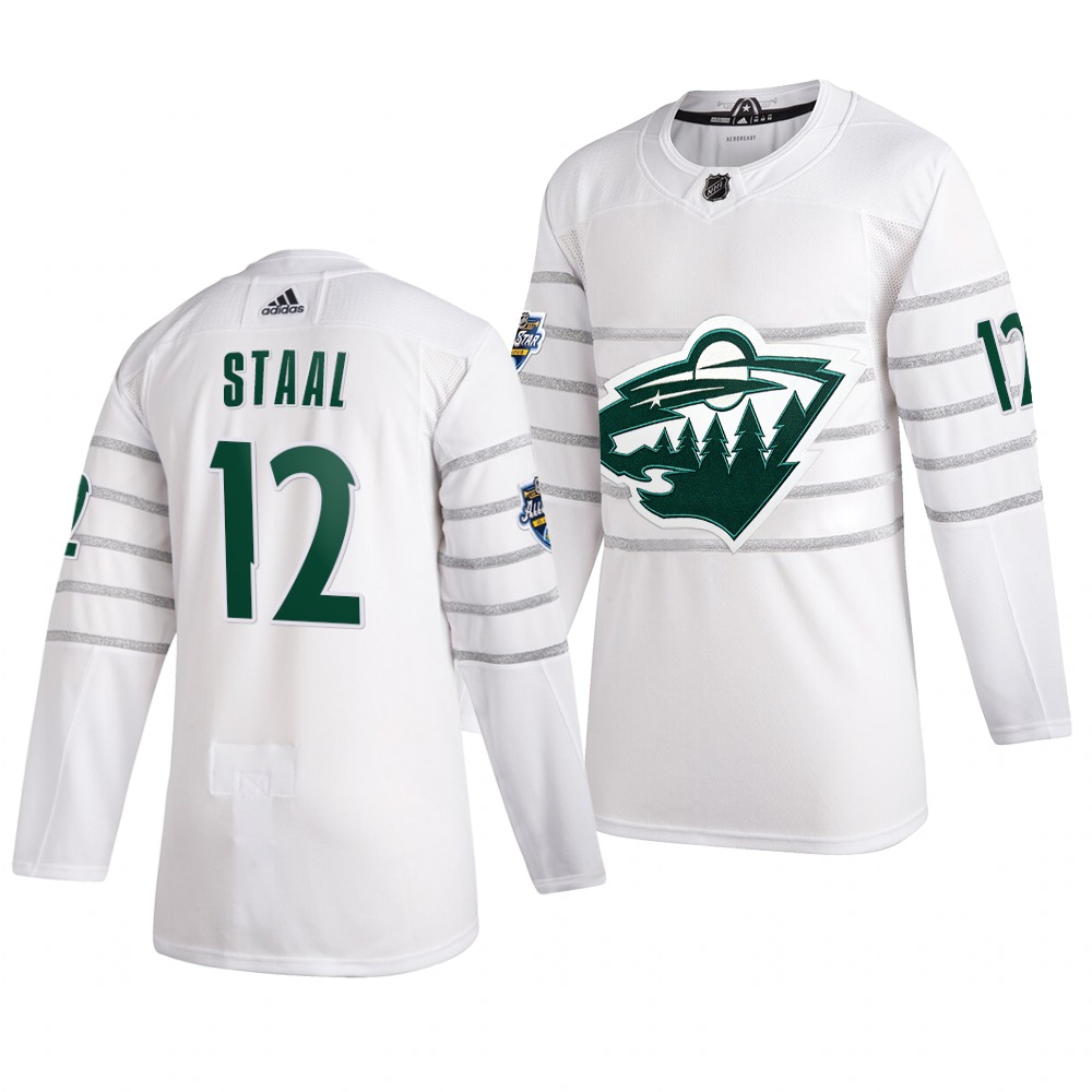 Men's Minnesota Wild #12 Eric Staal White 2020 NHL All-Star Game Adidas Jersey