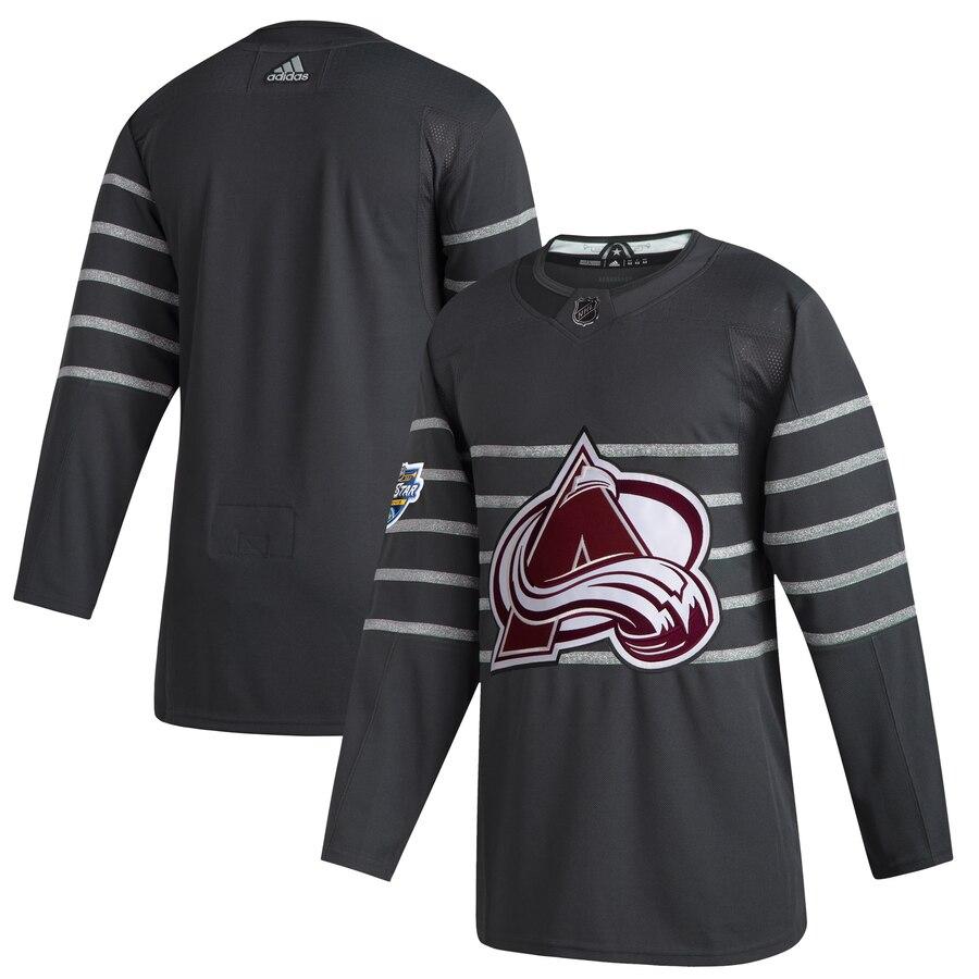 Men's Colorado Avalanche Blank Gray 2020 NHL All-Star Game Adidas Jersey