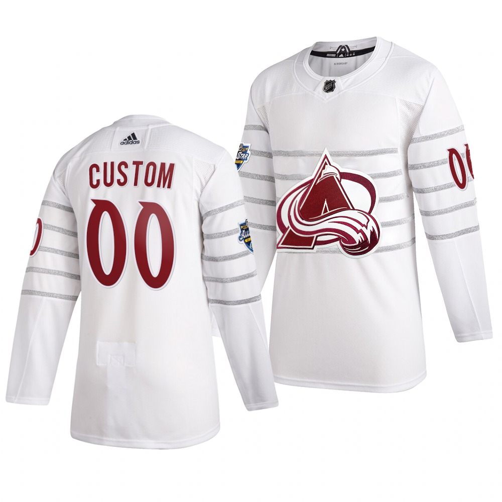 Men's 2020 NHL All-Star Game Colorado Avalanche Custom Authentic adidas White Jersey