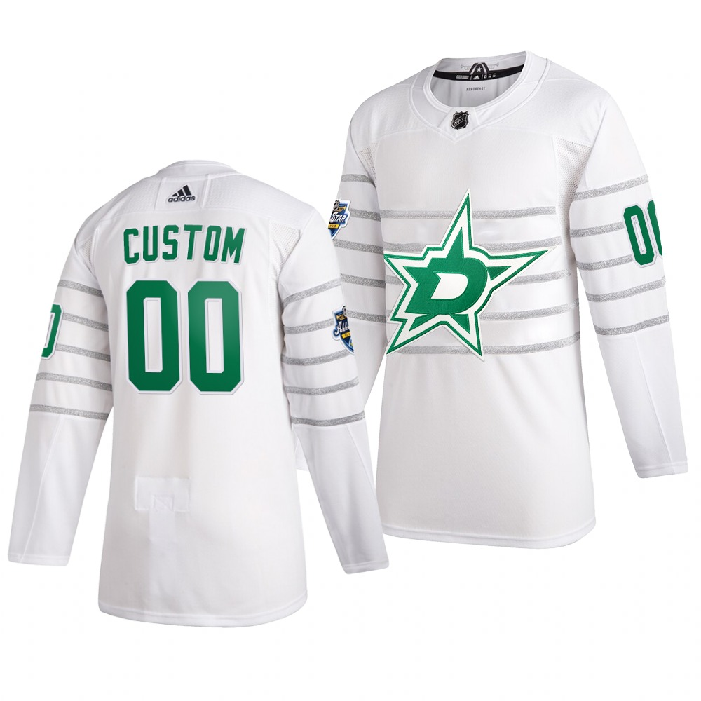 Men's 2020 NHL All-Star Game Dallas Stars Custom Authentic adidas White Jersey