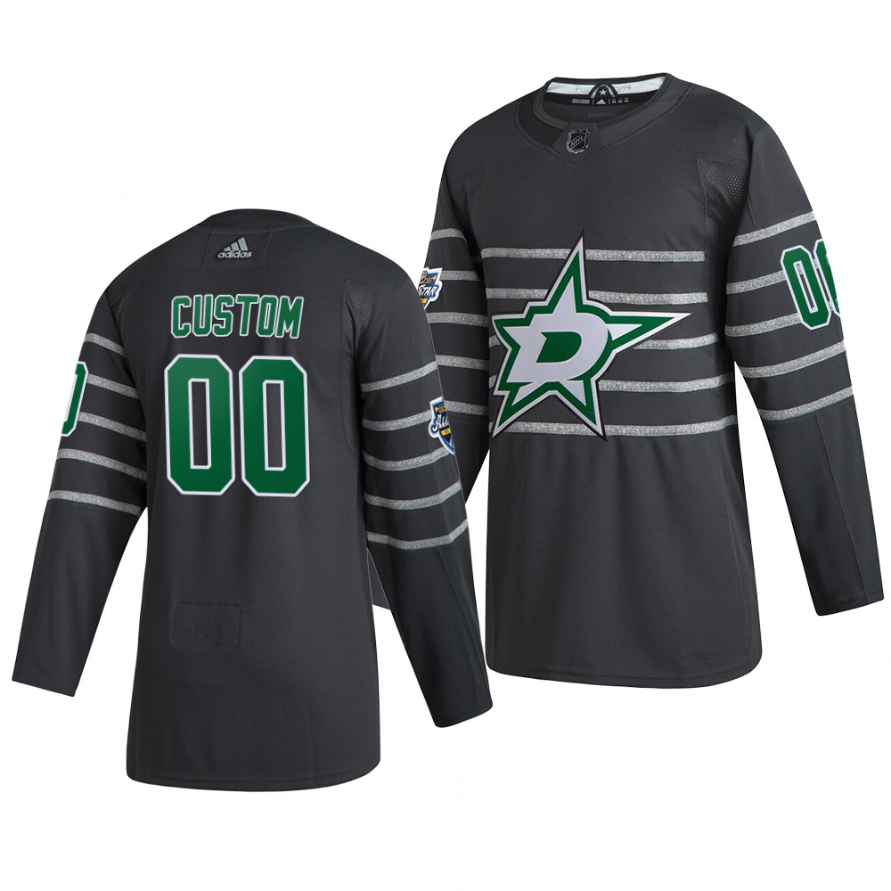 Men's 2020 NHL All-Star Game Dallas Stars Custom Authentic adidas Gray Jersey