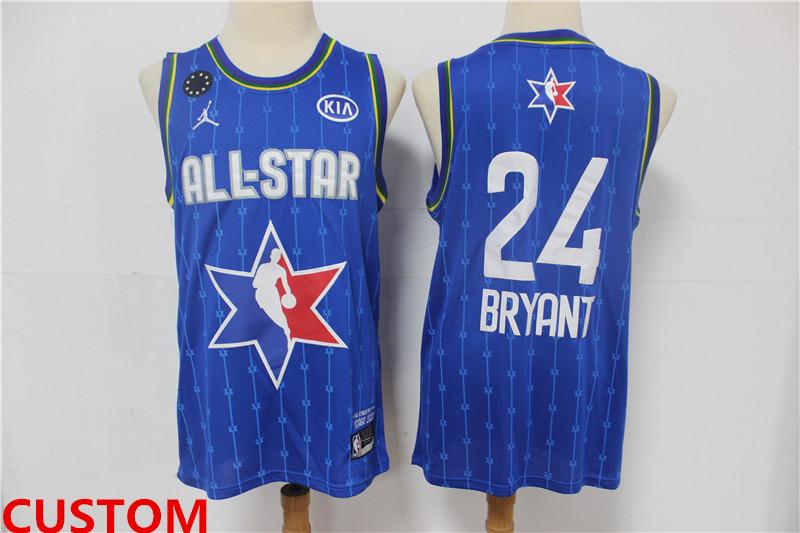 Men's Custom The Jordan Brand 2020 All-Star Game Swingman Stitched Blue NBA Jersey