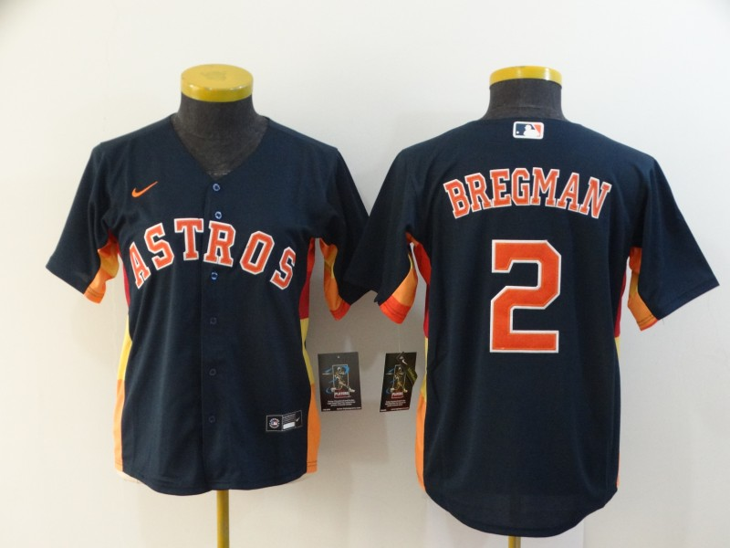 Women's Houston Astros #2 Alex Bregman Navy Blue Stitched MLB Cool Base Nike Jersey