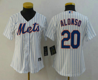 Women's New York Mets #20 Pete Alonso White Stitched MLB Cool Base Nike Jersey