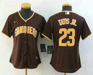 Women's San Diego Padres #23 Fernando Tatis Jr. Brown Stitched MLB Cool Base Nike Jersey