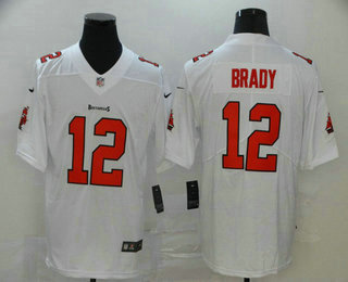 Men's Tampa Bay Buccaneers #12 Tom Brady White 2020 NEW Vapor Untouchable Stitched NFL Nike Limited Jersey