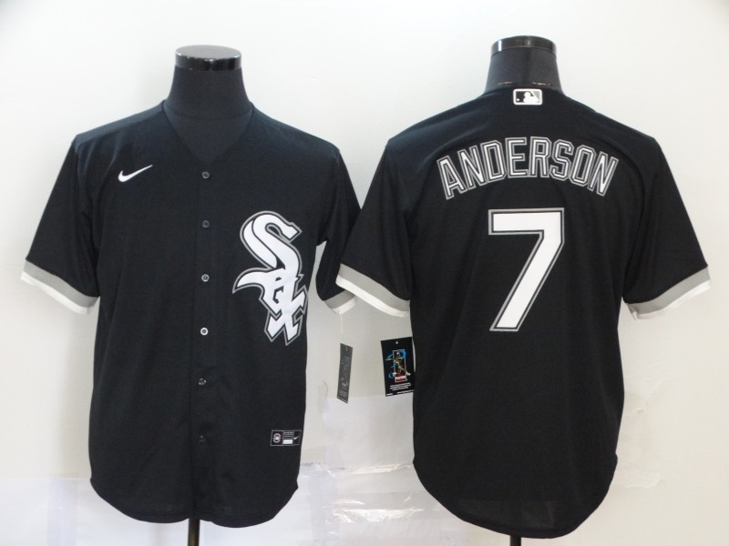 Men's Chicago White Sox #7 Tim Anderson Black Stitched MLB Cool Base Nike Jersey