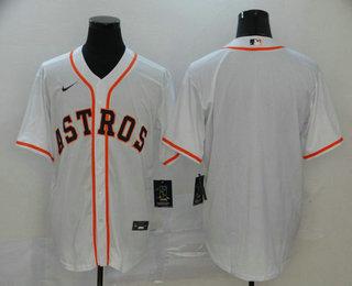 Men's Houston Astros Blank White Stitched MLB Cool Base Nike Jersey