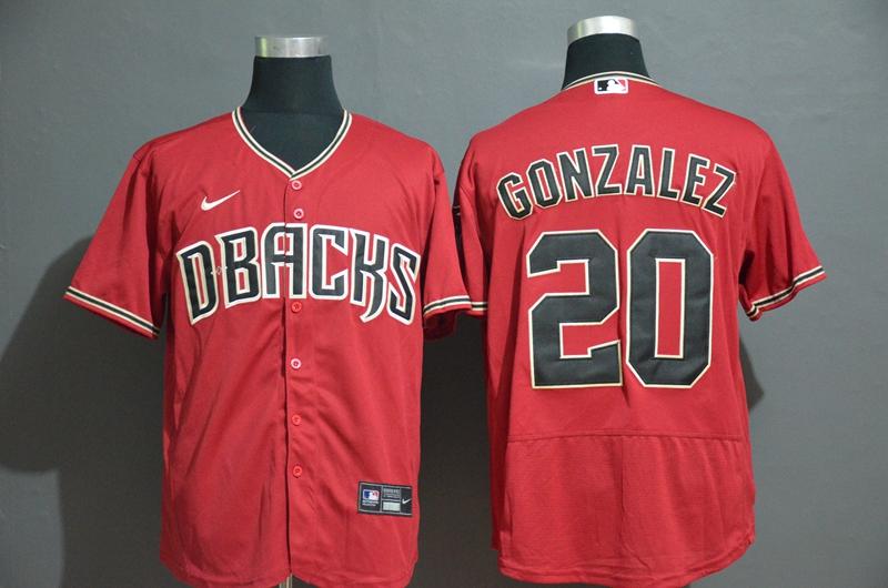 Men's Arizona Diamondback #20 Luis Gonzalez Red Stitched Nike MLB Flex Base Jersey