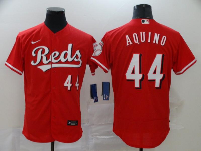 Men's Cincinnati Reds #44 Aristides Aquino Red Stitched MLB Flex Base Nike Jersey