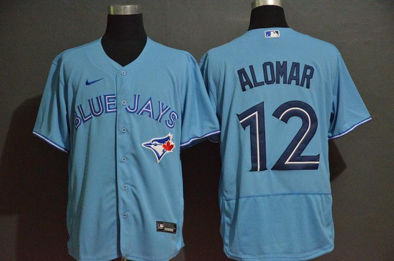 Men's Toronto Blue Jays #12 Roberto Alomar Blue Stitched MLB Flex Base Nike Jersey