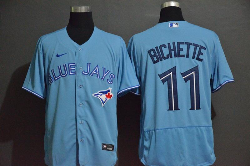 Men's Toronto Blue Jays #11 Bo Bichette Blue Stitched MLB Flex Base Nike Jersey