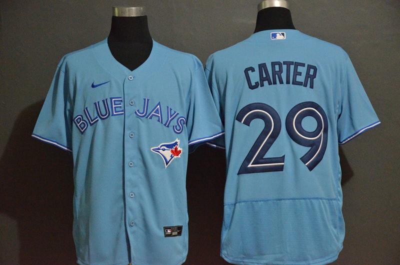Men's Toronto Blue Jays #29 Joe Carter Blue Stitched MLB Flex Base Nike Jersey
