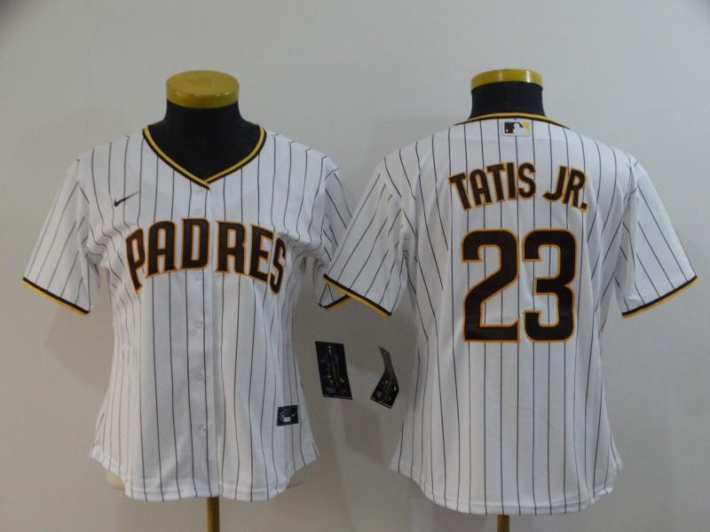 Women's San Diego Padres #23 Fernando Tatis Jr. White Stitched MLB Cool Base Nike Jersey