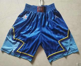 Men's Blue Jordan Brand 2020 All-Star Game Swingman Stitched NBA Shorts