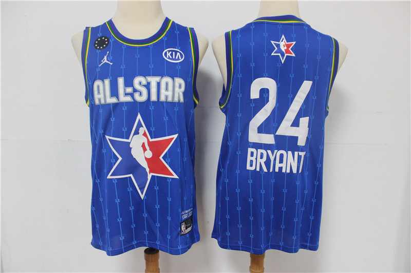 Men's Los Angeles Lakers #24 Kobe Bryant Blue Jordan Brand 2020 All-Star Game Swingman Stitched NBA Jersey