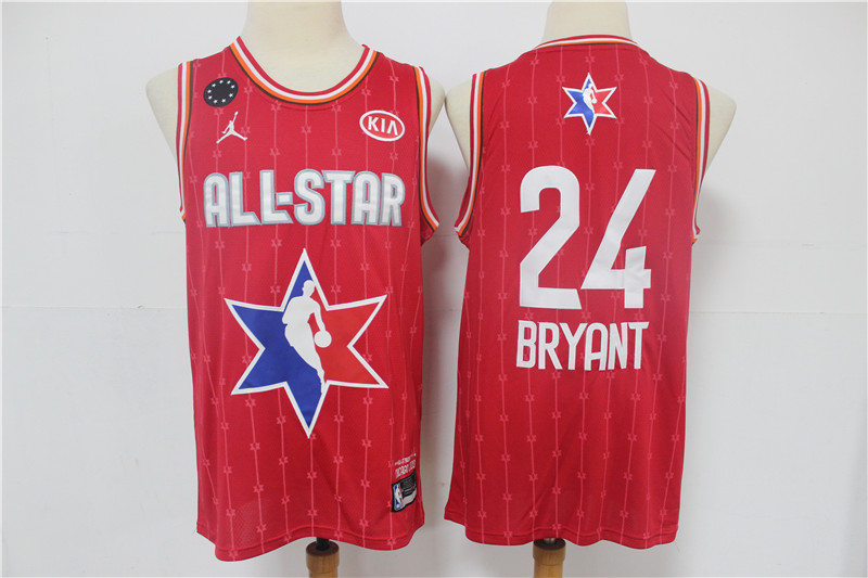 Men's Los Angeles Lakers #24 Kobe Bryant Red Jordan Brand 2020 All-Star Game Swingman Stitched NBA Jersey