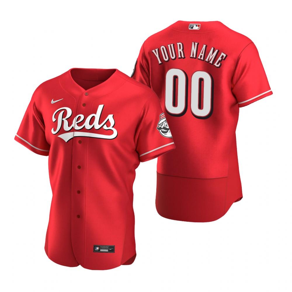 Men's Cincinnati Reds Custom Nike Scarlet Stitched MLB Flex Base Jersey