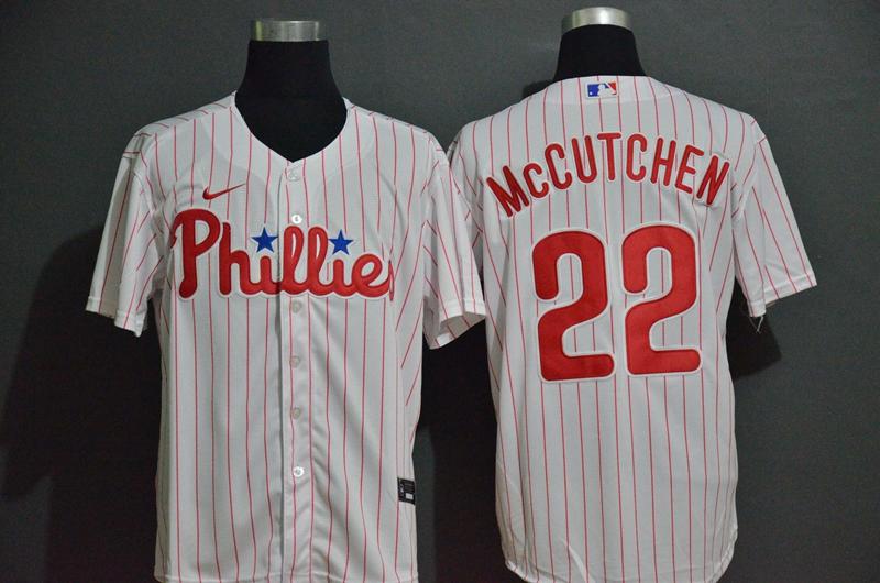 Men's Philadelphia Phillies #22 Bryce Harper White Stitched MLB Cool Base Nike Jersey