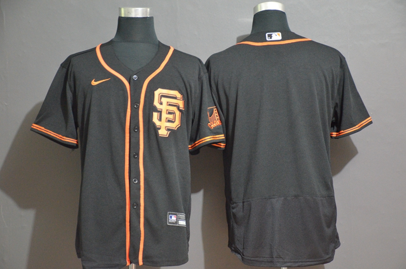 Men's San Francisco Giants Blank Black Stitched Nike MLB Flex Base Jersey