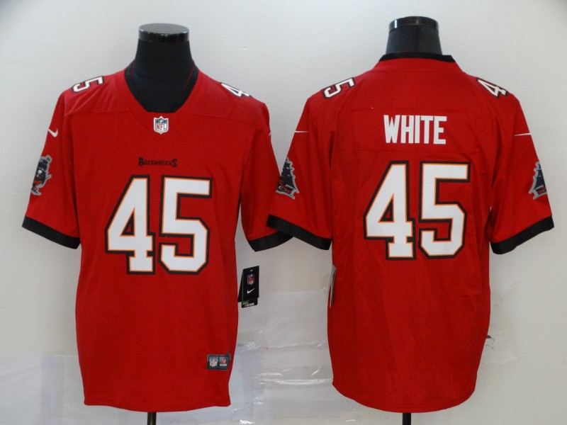 Men's Tampa Bay Buccaneers #45 Devin White Red 2020 NEW Vapor Untouchable Stitched NFL Nike Limited Jersey