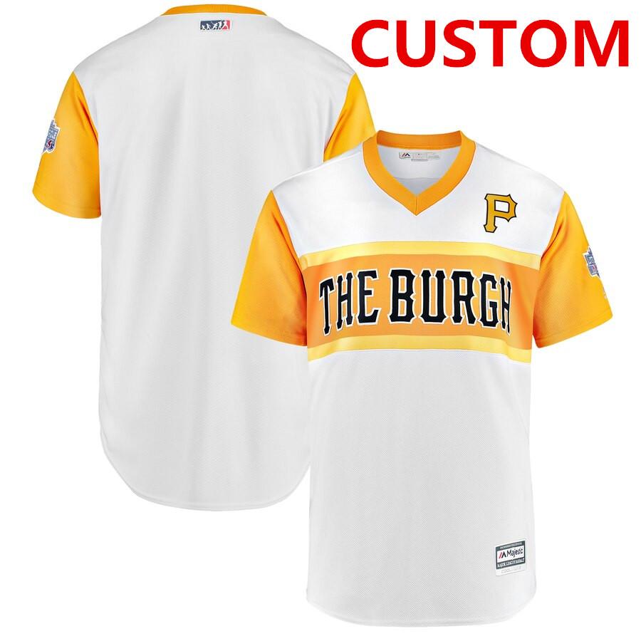 Men's Pittsburgh Pirates Custom White 2019 MLB Little League Classic Team Jersey