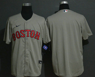 Men's Boston Red Sox Blank Gray Stitched MLB Cool Base Nike Jersey