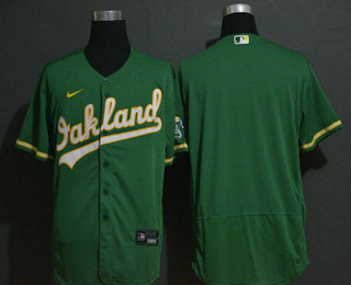 Men's Oakland Athletics Blank Green Stitched Stitched MLB Flex Base Nike Jersey