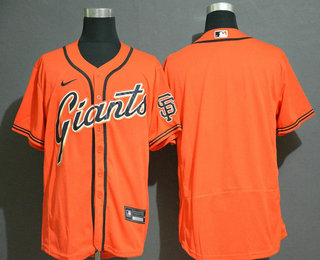 Men's San Francisco Giants Blank Orange Stitched Nike MLB Flex Base Jersey