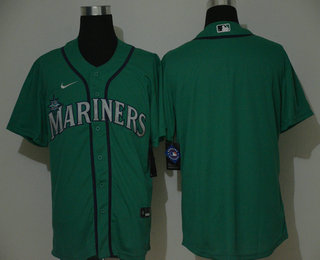 Men's Seattle Mariners Blank Green Stitched MLB Cool Base Nike Jersey